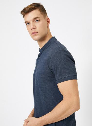 Koton Hakim Yaka Basic Slim Fit T-Shirt Gri